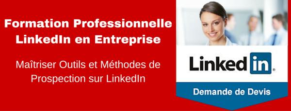 Demander un Devis gratuit pour formation LinkedIn prospection